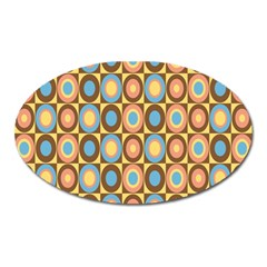 Round Color Oval Magnet by AnjaniArt