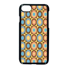 Round Color Apple Iphone 7 Seamless Case (black) by AnjaniArt