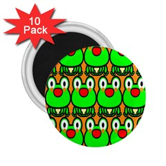 Sitfrog Orange Face Green Frog Copy 2 25  Magnets (10 Pack)  by AnjaniArt