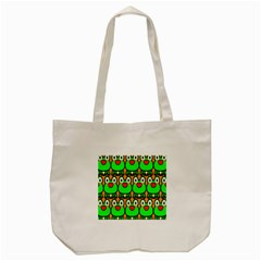Sitfrog Orange Face Green Frog Copy Tote Bag (cream) by AnjaniArt