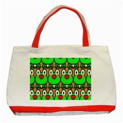 Sitfrog Orange Face Green Frog Copy Classic Tote Bag (red) by AnjaniArt