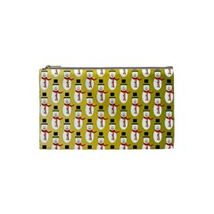 Snowman Green Cosmetic Bag (small)  by AnjaniArt