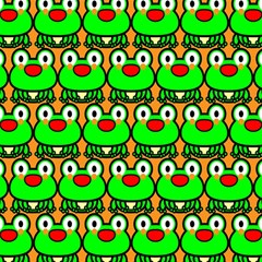 Sitfrog Orange Green Frog Magic Photo Cubes by AnjaniArt