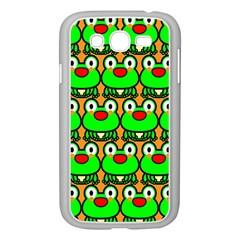 Sitfrog Orange Green Frog Samsung Galaxy Grand Duos I9082 Case (white) by AnjaniArt