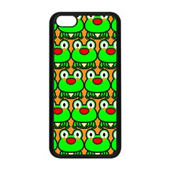 Sitfrog Orange Green Frog Apple Iphone 5c Seamless Case (black) by AnjaniArt