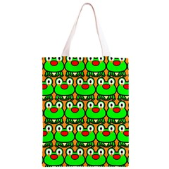 Sitfrog Orange Green Frog Classic Light Tote Bag by AnjaniArt