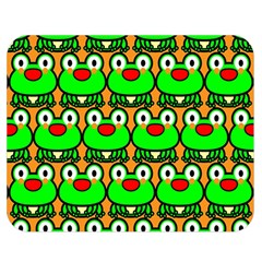 Sitfrog Orange Green Frog Double Sided Flano Blanket (Medium)  by AnjaniArt