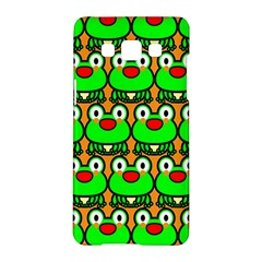 Sitfrog Orange Green Frog Samsung Galaxy A5 Hardshell Case  by AnjaniArt