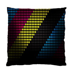 Techno Music Standard Cushion Case (two Sides) by AnjaniArt