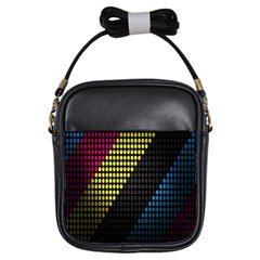 Techno Music Girls Sling Bags by AnjaniArt