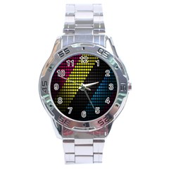 Techno Music Stainless Steel Analogue Watch by AnjaniArt