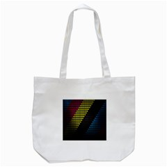 Techno Music Tote Bag (white) by AnjaniArt