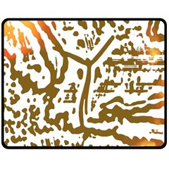 The Dance Double Sided Fleece Blanket (medium)  by AnjaniArt