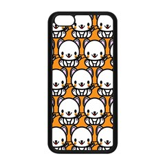 Sitwhite Cat Orange Apple Iphone 5c Seamless Case (black) by AnjaniArt