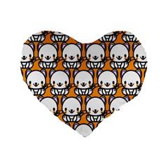 Sitwhite Cat Orange Standard 16  Premium Flano Heart Shape Cushions by AnjaniArt