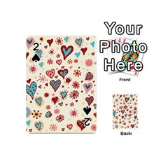 Valentine Heart Pink Love Playing Cards 54 (Mini)  by AnjaniArt