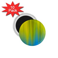 Yellow Blue Green 1.75  Magnets (10 pack)  by AnjaniArt