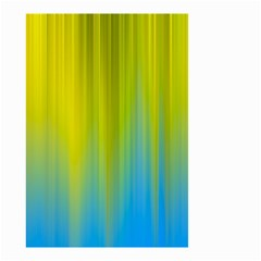 Yellow Blue Green Small Garden Flag (two Sides) by AnjaniArt