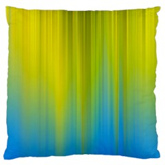 Yellow Blue Green Large Cushion Case (Two Sides) by AnjaniArt