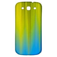 Yellow Blue Green Samsung Galaxy S3 S Iii Classic Hardshell Back Case by AnjaniArt