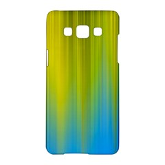 Yellow Blue Green Samsung Galaxy A5 Hardshell Case  by AnjaniArt