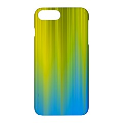 Yellow Blue Green Apple iPhone 7 Plus Hardshell Case by AnjaniArt