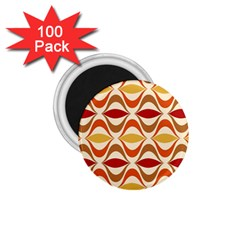 Wave Orange Red Yellow Rainbow 1 75  Magnets (100 Pack)  by AnjaniArt