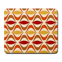 Wave Orange Red Yellow Rainbow Large Mousepads by AnjaniArt