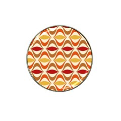 Wave Orange Red Yellow Rainbow Hat Clip Ball Marker (10 Pack) by AnjaniArt