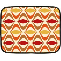 Wave Orange Red Yellow Rainbow Double Sided Fleece Blanket (mini)  by AnjaniArt