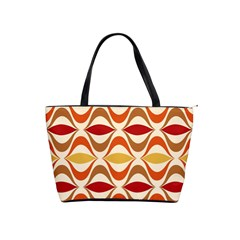 Wave Orange Red Yellow Rainbow Shoulder Handbags by AnjaniArt