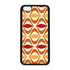Wave Orange Red Yellow Rainbow Apple Iphone 5c Seamless Case (black) by AnjaniArt