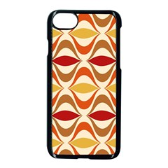 Wave Orange Red Yellow Rainbow Apple Iphone 7 Seamless Case (black) by AnjaniArt