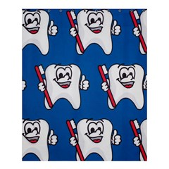 Tooth Shower Curtain 60  X 72  (medium)  by AnjaniArt