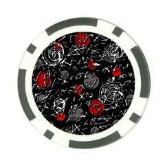 Red Mind Poker Chip Card Guards by Valentinaart