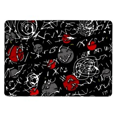 Red Mind Samsung Galaxy Tab 10 1  P7500 Flip Case by Valentinaart