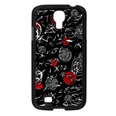 Red Mind Samsung Galaxy S4 I9500/ I9505 Case (black) by Valentinaart