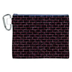 Brick1 Black Marble & Pink Marble Canvas Cosmetic Bag (xxl) by trendistuff