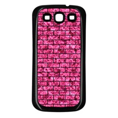 Brick1 Black Marble & Pink Marble (r) Samsung Galaxy S3 Back Case (black) by trendistuff