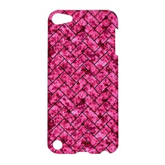 Brick2 Black Marble & Pink Marble (r) Apple Ipod Touch 5 Hardshell Case by trendistuff