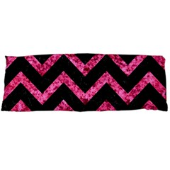 Chevron9 Black Marble & Pink Marble Body Pillow Case Dakimakura (two Sides) by trendistuff