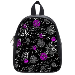 Purple Mind School Bags (small)  by Valentinaart