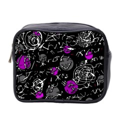 Purple Mind Mini Toiletries Bag 2 Side by Valentinaart