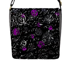 Purple Mind Flap Messenger Bag (l)  by Valentinaart