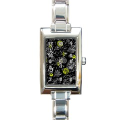Yellow Mind Rectangle Italian Charm Watch by Valentinaart