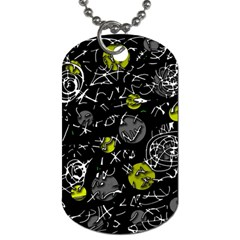 Yellow Mind Dog Tag (one Side) by Valentinaart