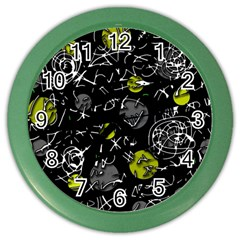 Yellow Mind Color Wall Clocks by Valentinaart
