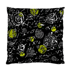 Yellow Mind Standard Cushion Case (two Sides) by Valentinaart