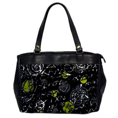 Yellow Mind Office Handbags by Valentinaart