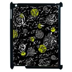 Yellow Mind Apple Ipad 2 Case (black) by Valentinaart
